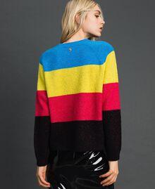 Color-Block-Pullover aus Wolle-Lurex-Mischung Lurex-Tweed Frau 192MT3170-03