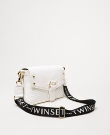 Medium Rebel bag with logo shoulder strap White Snow Woman 201TO823X-01