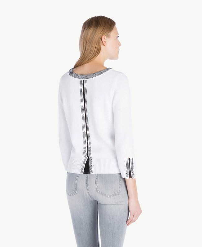 sale retailer 42928 1f008 Pullover mit Sternen Frau, Schwarz | TWINSET Milano