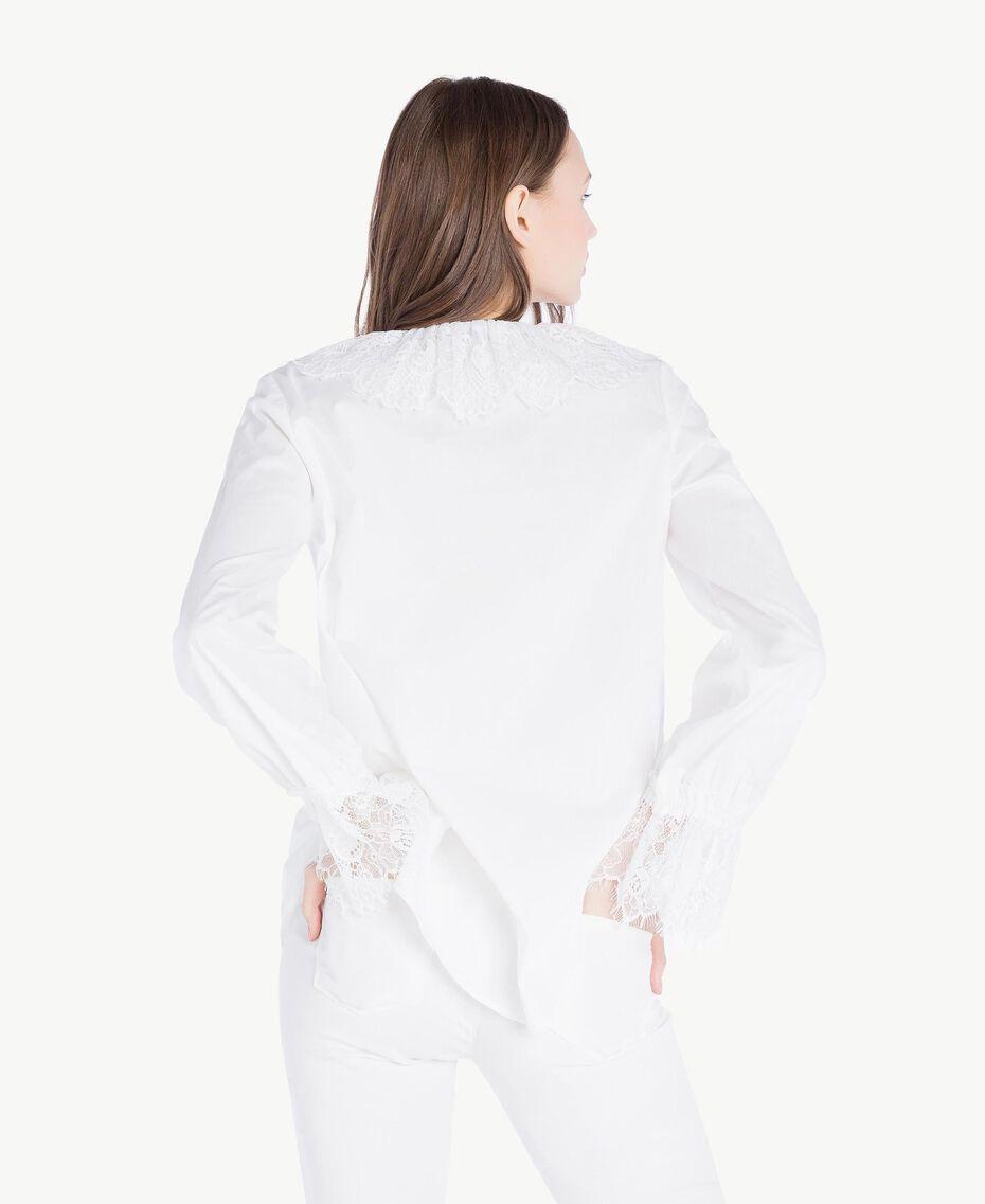 Bluse mit Spitze Weiß Frau SS82J2-03
