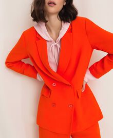 "Georgette blazer ""Ace"" Orange Woman 201LL2NHH-03"