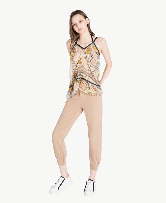 Pantalon combat Marron «Amphore» Femme SS82NB-05