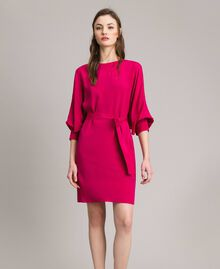 "Silk blend tunic dress ""Anemone"" Fuchsia Woman 191TP2147-02"