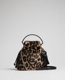 Borsa secchiello in similpelliccia animalier Animalier Donna 192MA7031-03