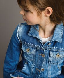 "Denim jacket with embroidery ""Mid Denim"" Blue Child 191GJ2480-0S"