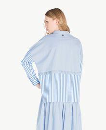 Chemise patchwork Multicolore Rayure Topaze Bleue Femme JS82DR-03