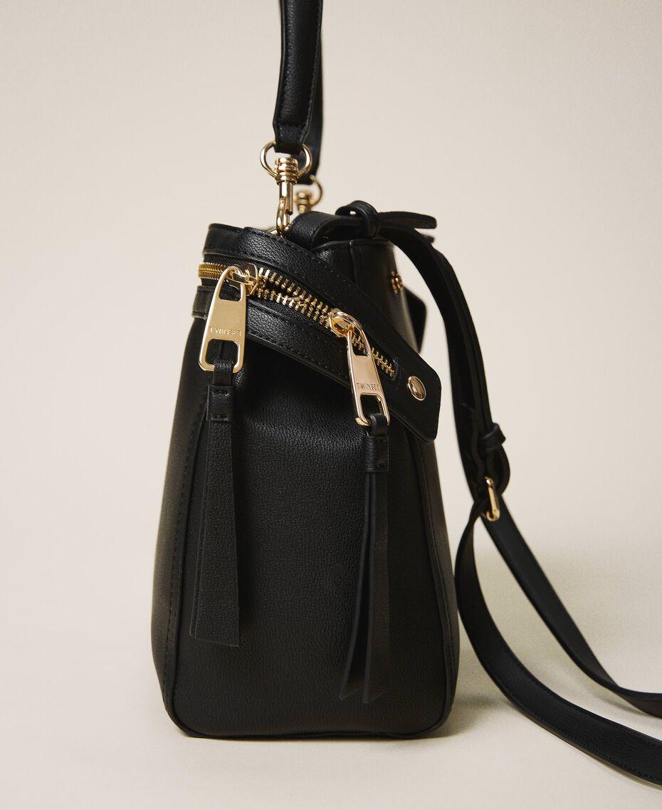 Large faux leather New Cécile bag Turtledove Woman 202TB7180-02