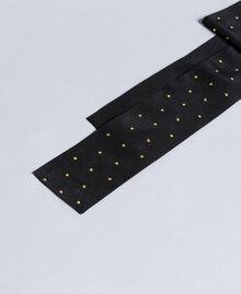 Silk studded scarf Two-tone Black / Gold Woman AA8P17-01
