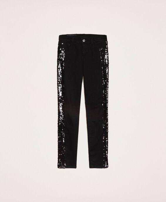 Push-up-Jeans mit Pailletten