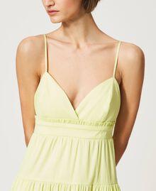 """Draco"" poplin dress with flounces ""Sunny"" Yellow Woman 211MT2265-03"