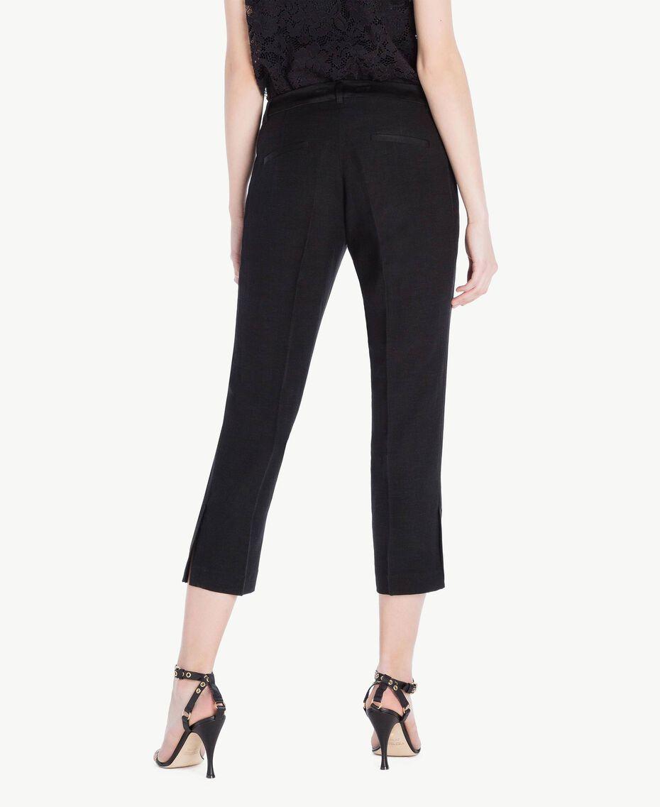 Pantalon envers satin Noir Femme TS823G-03