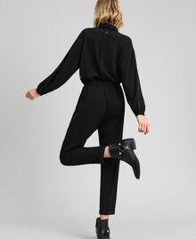 Combinaison avec dentelle et col amovible Noir Femme 192ST2167-03