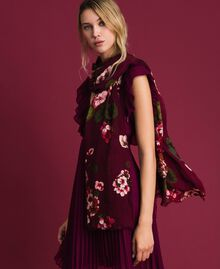 Dress with floral print and logo Beet Red Geranium Print Woman 192TA440G-0S