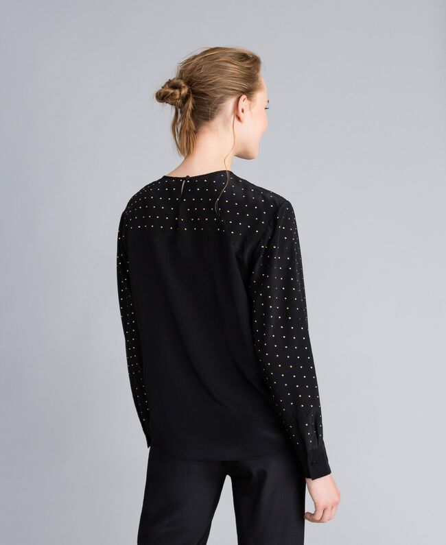 Studded silk blouse Black Woman PA82EX-03