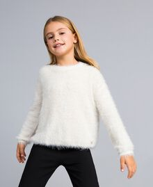 Fur stitch jumper Off White Child GA83D2-0S