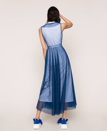 """Full-length tulle gown with ruffle """"Hyacinth"""" Blue Woman 201MT2390-03"""