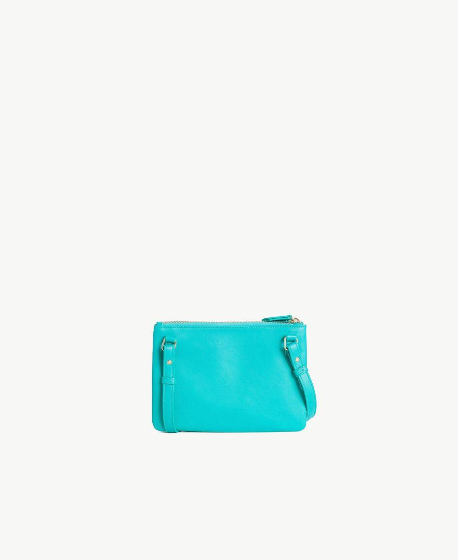 "TWINSET Tracolla pochette Stampa ""Smart"" Zaffiro Verde Donna RS8TF1-03"