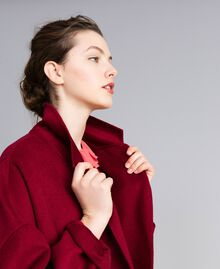 Cappotto lungo in panno double Bordeaux Donna PA8262-04