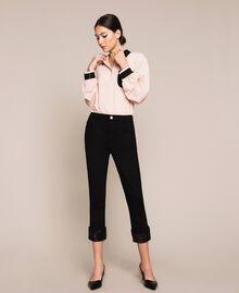 Jeans tomboy con paillettes Denim Nero Donna 201MP2262-01