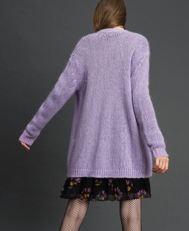"""Cardigan in mohair Rosa """"Pink Lavender"""" Donna 192TT3270-04"""