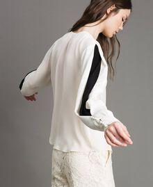 Blouse en soie mélangée Blanc Neige Femme 191TP2141-04