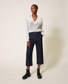 Свободные прямые джинсы Тёмный Деним женщина 202MP2072-04
