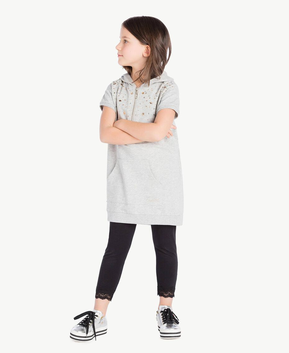 Studded dress Light Gray Mélange Child GS82G1-02