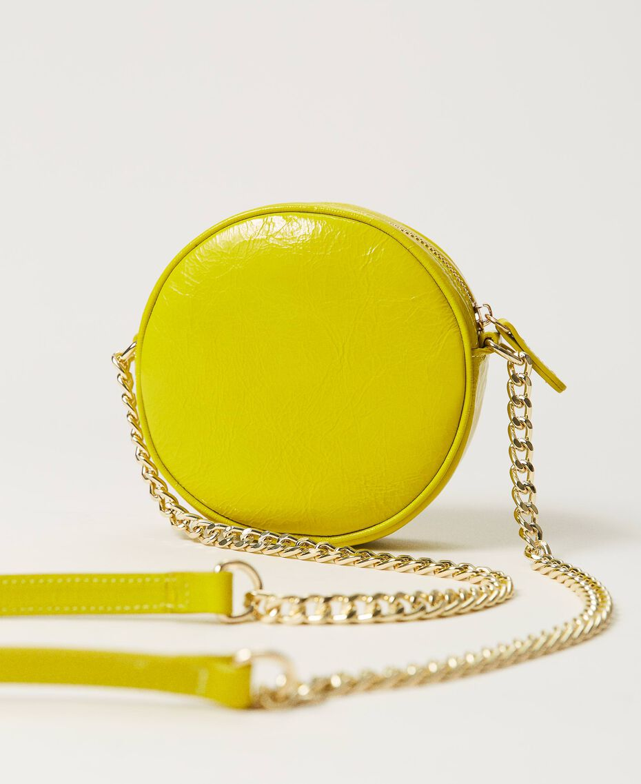 """Leather shoulder bag """"Led"""" Yellow Woman 211TD8032-03"""