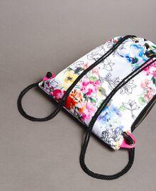 Rucksack mit Blumenmuster Fluoreszierendes Rosa Frau 191MO8061-04