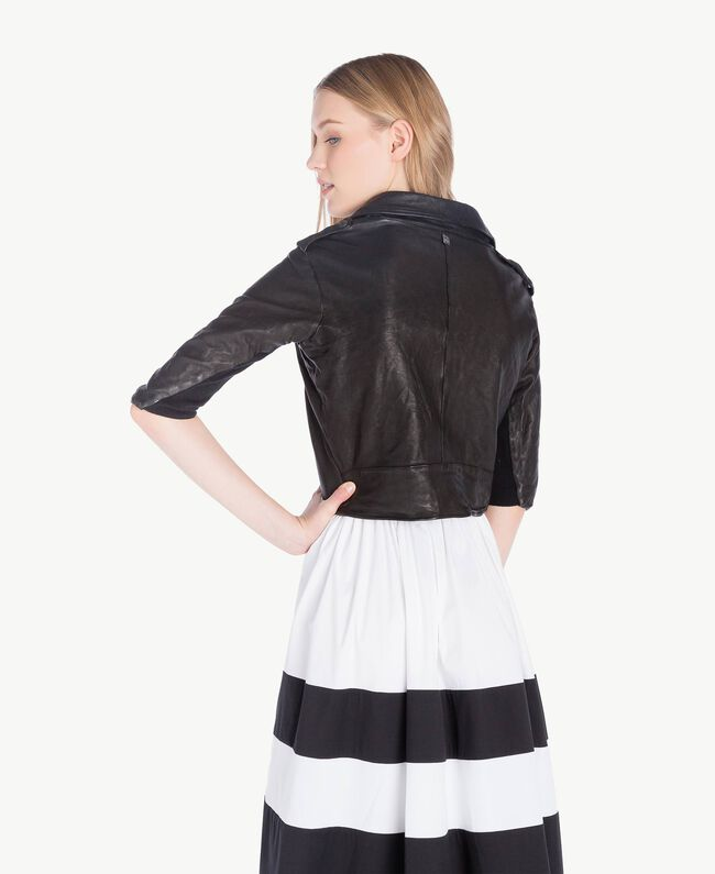 Perfecto cuir Noir Femme YS82JG-03