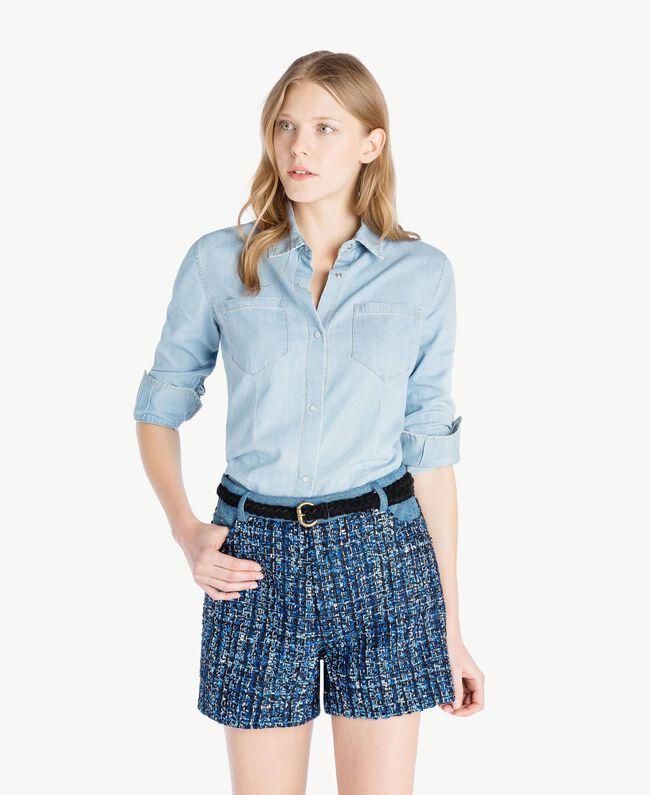 Denim shirt Denim Blue Woman JS82U1-01