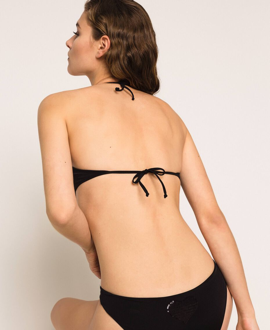 Bandeau bikini top with heart Black Woman 201LBMCWW-03