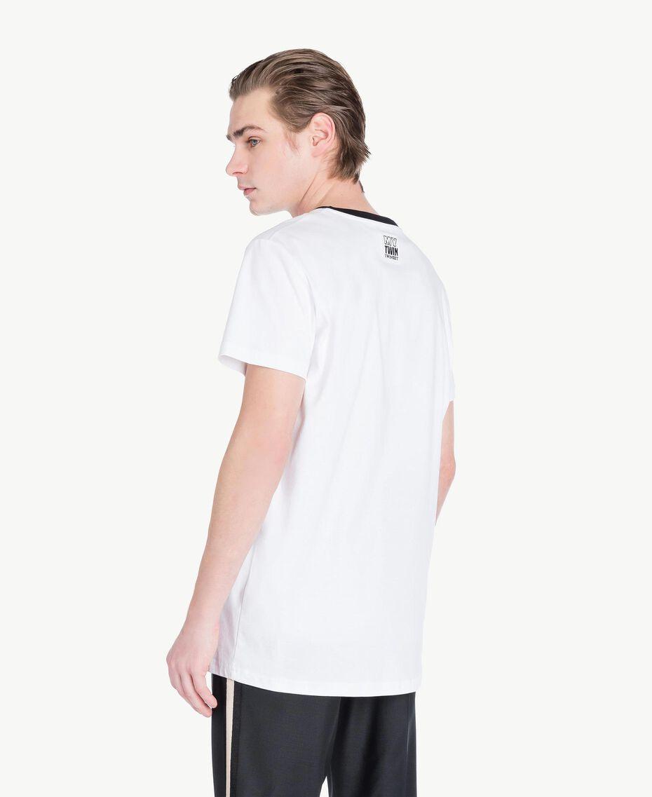 T-Shirt aus Jersey Mattweiß Mann US8227-03