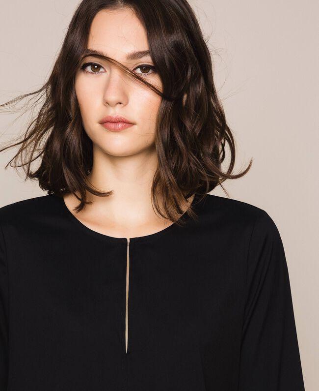 Поплиновое платье Черный женщина 201MP218G-04