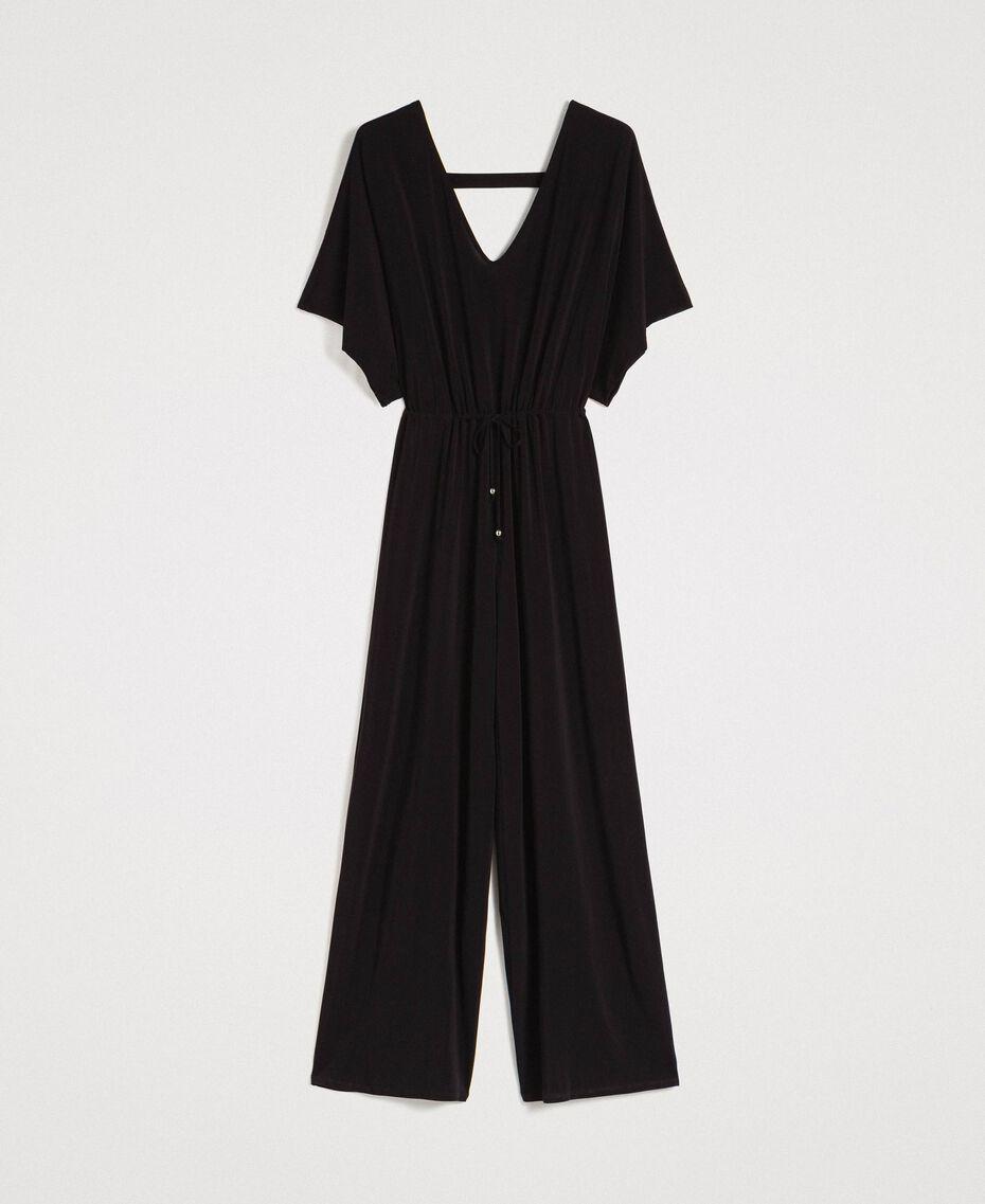 Combinaison avec pantalon palazzo Noir Femme 191LB22DD-0S