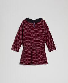 Crêpe dress with hearts all over Tiny Heart Print Child 192GB2530-0S