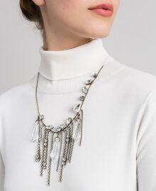Collier ras-du-cou avec pierres et strass Cristal Femme 192TA4365-0S