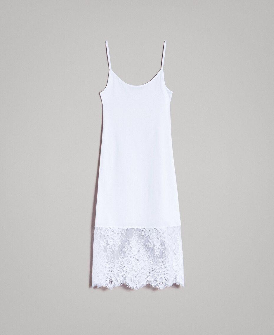 Kleid im Unterkleidstil mit Spitze Schwarz Frau 191TP260H-0S