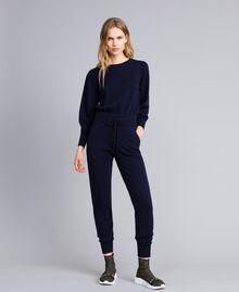 Pantaloni jogging in lana e cashmere Blu Notte Donna TA83AA-02
