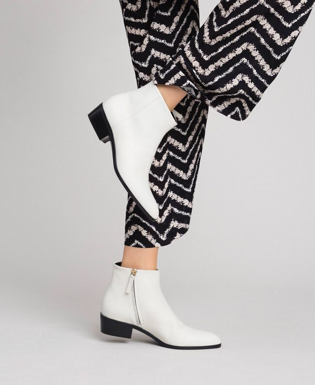 Leather ankle boots Off White Woman 192TCP12N-0S