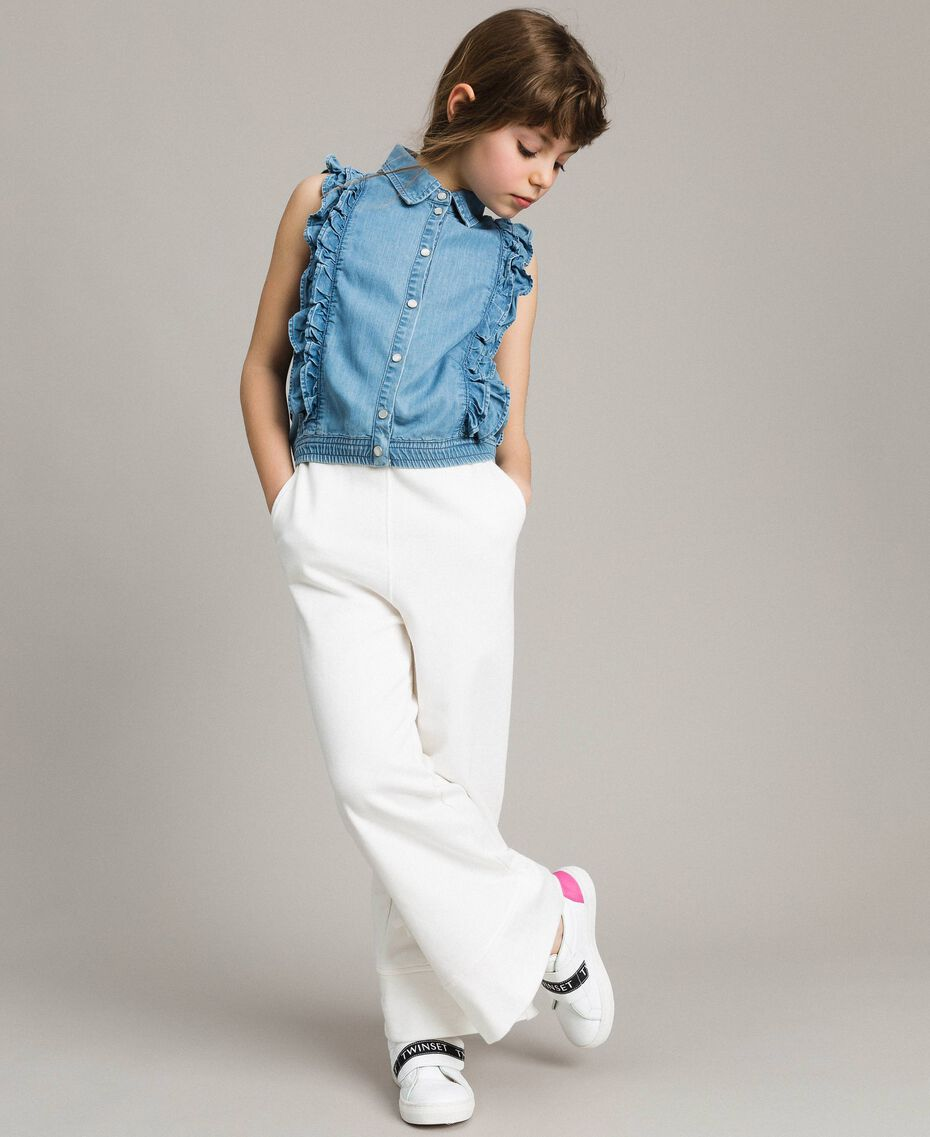 Top en denim souple Jean Doux Enfant 191GJ2561-0S