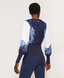 Jersey estampado Estampado «Porcelain Blue And White» Mujer 211TT3131-03