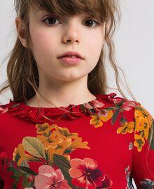 Blouse en crêpe georgette avec imprimé floral Imprimé Fleurs des Champs Grenadier Enfant 192GJ2591-04