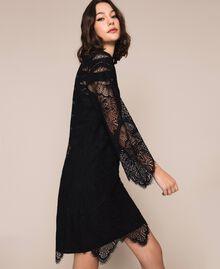 Macramé lace dress Black Cherry Woman 201TP2030-01