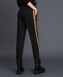 Pantalon cigarette avec bandes contrastées Noir Femme 192ST2201-03