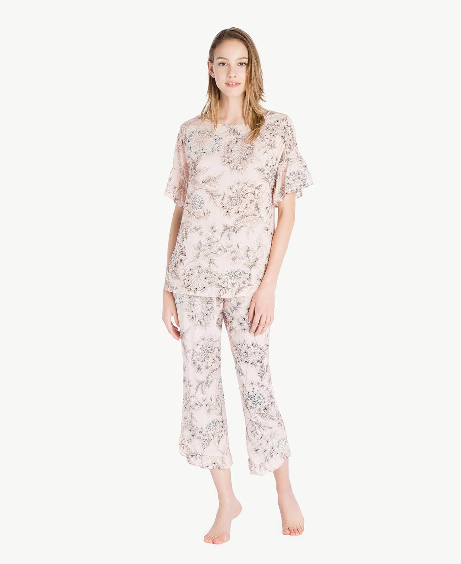 Printed pyjamas Pinkie Sugar Macrofloral Print Woman LS8DHH-02