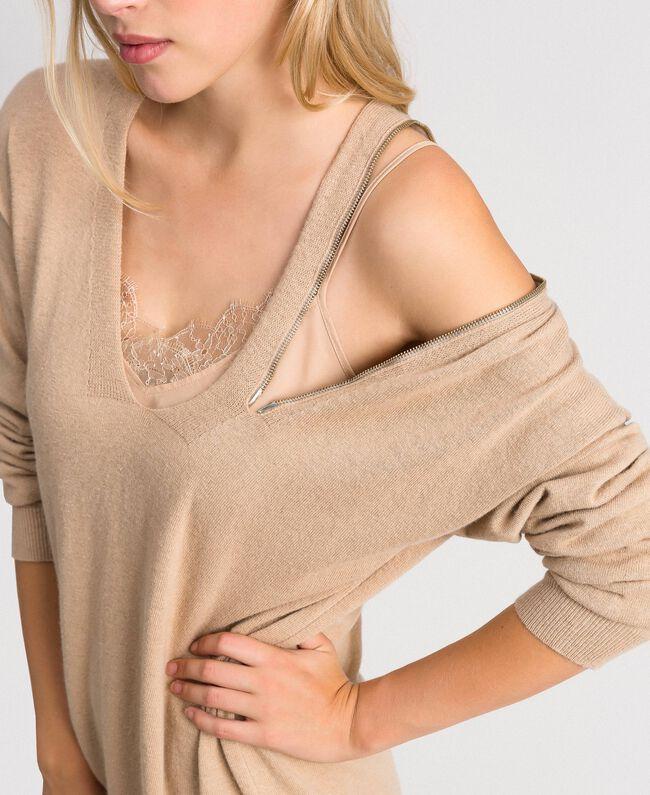 Cashmere blend maxi jumper Camel Woman 192TT3090-01