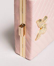 Pochette en cuir matelassé Perle Rose Femme 191TA7196-04