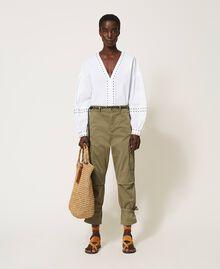 Pantalon cargo avec poches Vert Alpin Femme 211TT2652-0T