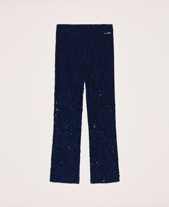 Macramé lace trousers